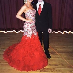 Custom Sherri Hill Red Pageant Dress